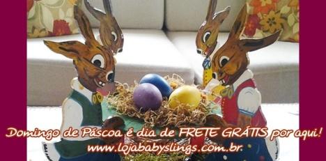 Domingo de Páscoa é dia de frete GRÁTIS por aqui! www.babyslings.com.br