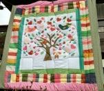 Colcha de patchwork Árvore de Corações